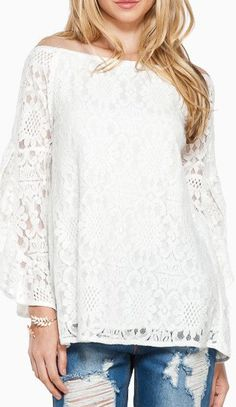 Annabella Lace Top in White