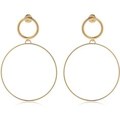 Maria Francesca Pepe Women Hoops I Did It Again Earrings (170 CAD) ❤ liked on Polyvore featuring jewelry, earrings, accessories, gold, hoop earrings, earring jewelry, nickel free hoop earrings, nickel free jewelry and lightweight hoop earrings