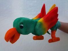 Parrot glove puppet