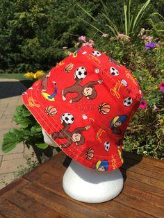 8e3f434fd4b Curious George Hat Reversible Bucket hat. Bucket hat. Fall hat. Sun Hat