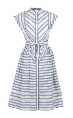 Southampton Striped Shirtdress by LENA HOSCHEK for Preorder on Moda Operandi