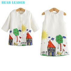 Winter Girls Clothes Graffiti Printing Girls Outerwear+ for Chindren 3-8Y - 5 Just look, that`s outstanding! Visit our store