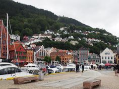 The Norwegian coastal city of Bergen is an attractive tourist spot. Here is the port at the lower end of town.