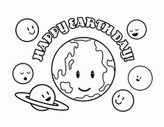 Happy Earth Day coloring page for kids coloring pages printables
