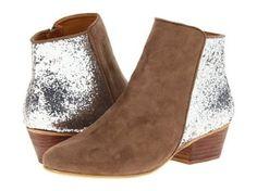 Kelsi Dagger Twinkle Womens Leather Glitter Ankle Boots (Taupe/Silver, US 6) Kelsi Dagger. $53.95