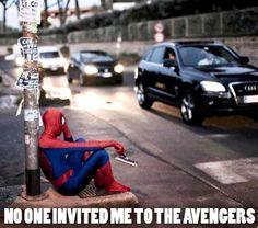 Poor Spiderman.