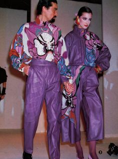 """"""" Kansai Yamamoto Fall/Winter 1982 """" 80s And 90s Fashion, Dope Fashion, Unisex Fashion, Fashion Art, High Fashion, Vintage Fashion, Fashion Design, Japan Fashion, India Fashion"""