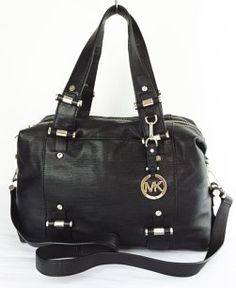 e1865a39607c MICHAEL Michael Kors Gibson Leather Satchel in black $230 Leather Satchel,  Retail Price, Happy