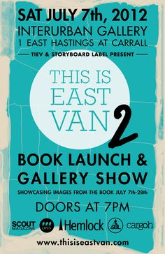 THIS IS EAST VAN - Book Launch & Gallery Show