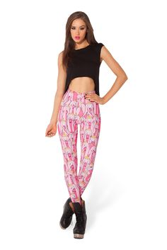 Princess Bubblegum HWMF Leggings by Black Milk Clothing $85AUD