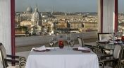 Panoramic Michelin-starred restaurant on the 6th floor of the Hotel Hassler in Rome.