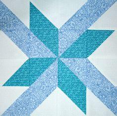 p star sampler quilt along - block 3 - 007 Quilt Blocks Easy, Big Block Quilts, Star Blocks, Small Quilts, Barn Quilt Patterns, Pattern Blocks, Star Patterns, Quilting Patterns, Craft Patterns
