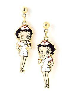 Betty Boop Earrings / AZERFHB17-GML Arras Creations http://www.amazon.com/dp/B00QY4288I/ref=cm_sw_r_pi_dp_s5tVub12QZDS3