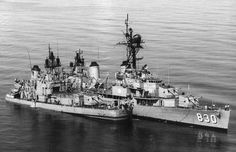 Frank E. Evans's stern section tied up alongside USS Everett F. Larson after she was cut in two in a collision with the Australian aircraft carrier HMAS Melbourne , In the South China Sea Vietnam Veterans, Vietnam War, Royal Australian Navy, Us Navy Ships, Naval History, History Photos, United States Navy, Royal Air Force, Aircraft Carrier
