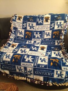 University of Kentucky Wildcats Blanket No by BlanketsUnlimited, $54.00 @Delaney Parrish Ray