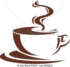 Steaming Cup of Coffee drawing | steaming cup of coffee