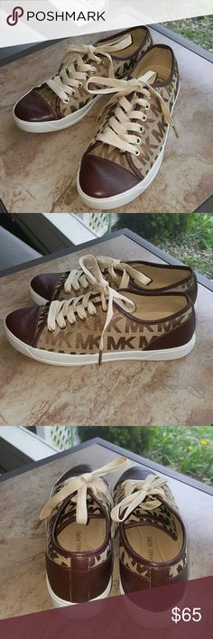 Michael Kors Shoes Like new Gently worn once A little snugg on me Gold accent on laces  Leather front Ruffle beringer sole Michael Kors Shoes Sneakers