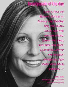 Beautyquote van Ashley Smith op www.makeupmymind.nl
