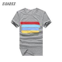 Summer style cotton mens t shirt Clothing Slim T-shirt T-shirts men tops tees tshirts print t-shirt