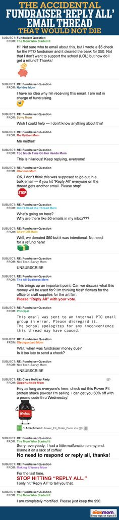 The Accidental Fundraiser 'Reply All' Email Thread That Would Not Die