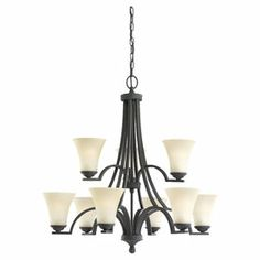 Sea Gull Lighting�9-Light Somerton Blacksmith Chandelier