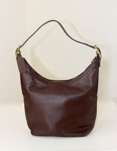 8cf3456ff3e Coach Hobo Bag Brown Leather Fully Lined Logo Fabric Hang Tag  Coach   ShoulderBag