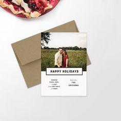 Modern Holiday Photo Card   Minimalist Holiday   Hipster Christmas   Newlywed Christmas   Christmas Card   Custom Card