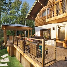 Enhance your outdoor space with design ideas for patios, decks, gardens, outdoor kitchens and bars with stunning pictures. Patio Plus, Small Patio, Interior Balcony, Balcony Design, Construction Patio, Patio House Ideas, Patio Door Blinds, Deck With Pergola, Pergola Ideas