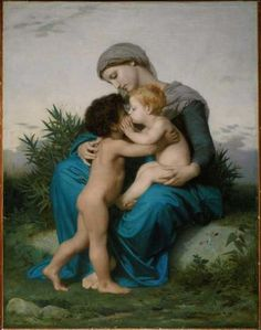 William Adolphe Bouguereau, Fraternal Love, 1851.
