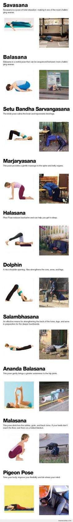And then there is drunk yoga...