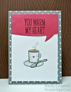 My husband and I drink coffee together every day, so I made this card for him!