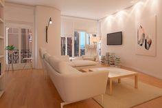 Interior design project for Goya Intercontinental. Contemporary living room. #interiordesign #contemporary #vitra # sancal #ferm #marset #miniforms
