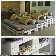 upcycled pallet home theater seating