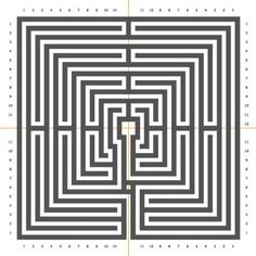 The St. Omer Labyrinth and the Chartres Labyrinth Maze Tattoo, Mad Movies, Labyrinth Maze, Doodle Patterns, Design Patterns, Color By Numbers, Principles Of Art, Concrete Art, Illusion Art