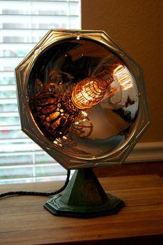 Steampunk Ray Gun Lamp