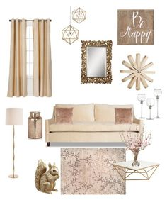 """""""Natural Glam"""" by kimberly-gooden-bumpas on Polyvore featuring interior, interiors, interior design, home, home decor, interior decorating, Eclipse, Belle Maison, Moss Studio and Nuevo"""