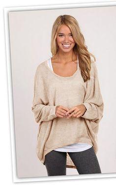 Pullover & Pullunder - Pullover Oversize asymmetrisch Cardigan lässig - ein Designerstück von by_olala bei DaWanda