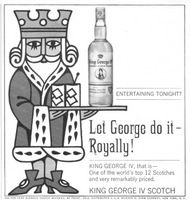 King George IV Blended Scotch Whisky 1966 Ad Picture