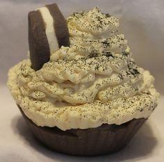 Cookies & Cream Artisan Soap Cupcake - Wylde Rose Handmade Soaps & Candles  www.wylderose.ca