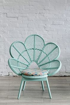 The things I would do for this chair. So gorgeous Love Chair Mint - The Family Love Tree. aqua teal turquoise mint chair furniture home decor design Interior Exterior, Interior Design, Interior Decorating, Decorating Ideas, Peacock Chair, Love Chair, Wicker Furniture, Furniture Design, Distressed Furniture