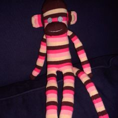Learn to make a sock monkey :) u all get one for Christmas next year so post ur favorite color combo