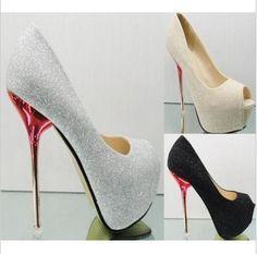 Venta al por mayor tacones altos zapatos de punta abierta-Compre ...