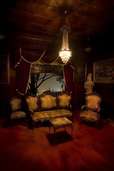 goth gothic living room livingroom den victorian decor home furniture                                                                                                                                                     More