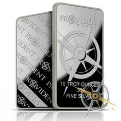 Brand New /& Sealed In Plastic Provident Metals 10 Troy Oz .999 Fine Silver Bar