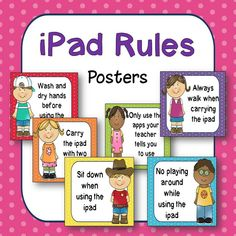 Classroom Computer Rules Posters (Happy Kids) - ipad - Ideas of ipad - Classroom Computer Rules Posters (Happy Kids) Computer Lab Rules, Computer Lab Decor, Kids Computer, Computer Teacher, Computer Lessons, Computer Class, Computer Tips, Computer Center, Computer Literacy