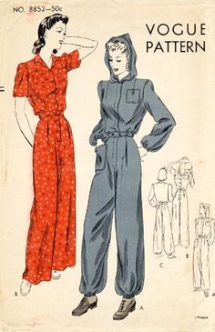 Vogue 8852 || Featured in Vogue Pattern Book, December 1940 - January 1941