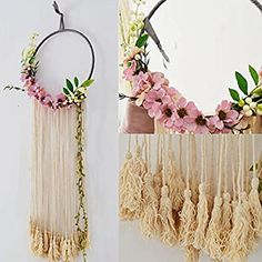 Diy Home Decor Easy, Handmade Home Decor, Cheap Home Decor, Home Decoration, Diy Wall Decor For Bedroom Easy, Room Decor, Easy Diy, Macrame Wall Hanging Patterns, Tapestry Wall Hanging