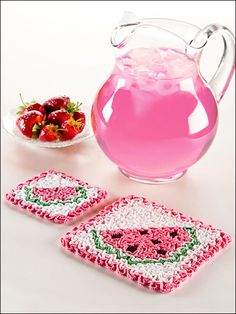 Watermelon Hot Pad Set