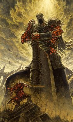 Yhorm the giant, the last giant in Dark Souls 2 apparently wasn't the last one. (I'm not very well known with the Dark Souls lore Dark Fantasy Art, Fantasy Artwork, Dark Art, Art Dark Souls, Dark Souls Lore, The Last Giant, Soul Saga, Art Noir, Arte Obscura