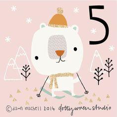 Cute Polar Bear! Illustrated Advent by dottywrenstudio